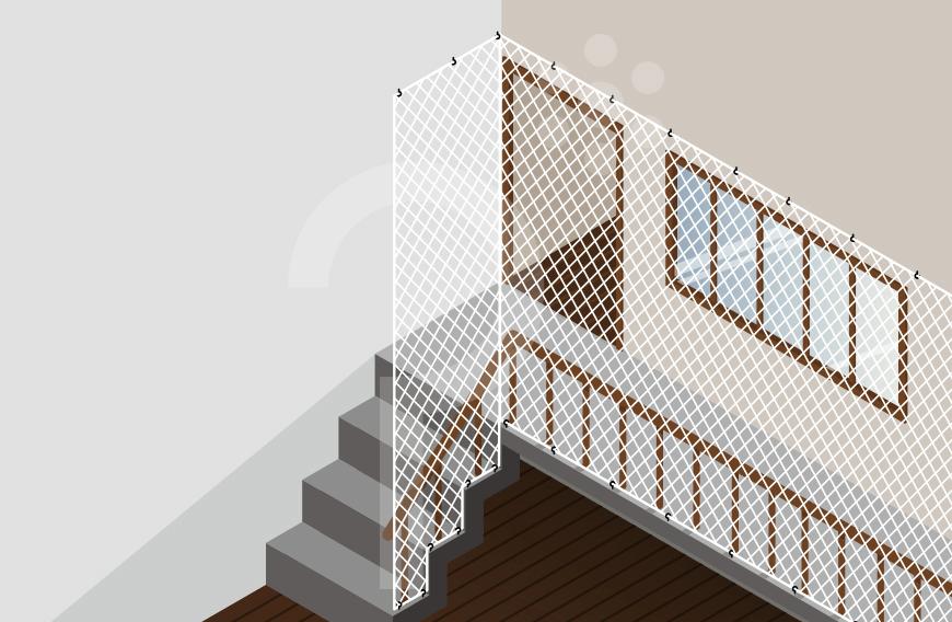 4381413dfebb9 Redes de Proteção para Escadas